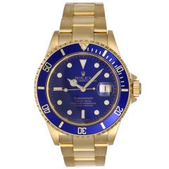 Beautiful Men's Gold Rolex Submariner 16618