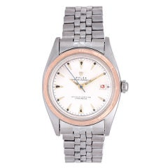 Rolex Stainless Steel and Rose Gold Oyster Perpetual Wristwatch