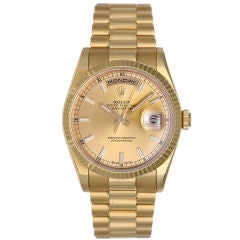 Classic Rolex President Day-Date Men's Gold Watch 118238
