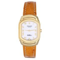 Rolex Lady's Yelow Gold Cellini Wristwatch