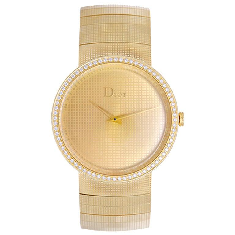 Dior Yellow Gold and Diamond La D De Dior Wristwatch