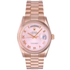 Men's Rose Gold Rolex President Day-Date Watch 118205