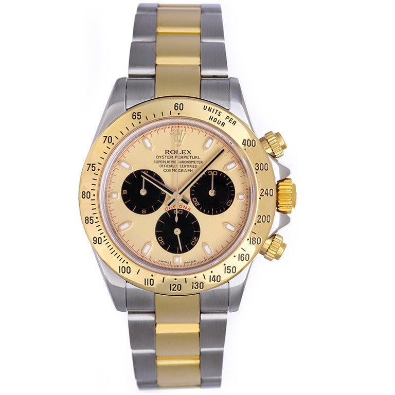 Rolex Stainless Steel and Yellow Gold Cosmograph Daytona Wristwatch 1