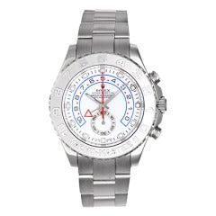 Rolex White Gold Yacht-Master II Regatta Wristwatch