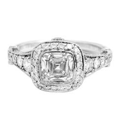 Tiffany & Co. Platinum and Diamond Legacy Ring