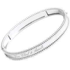 Van Cleef & Arpels Perlee Signature  White Gold Bracelet