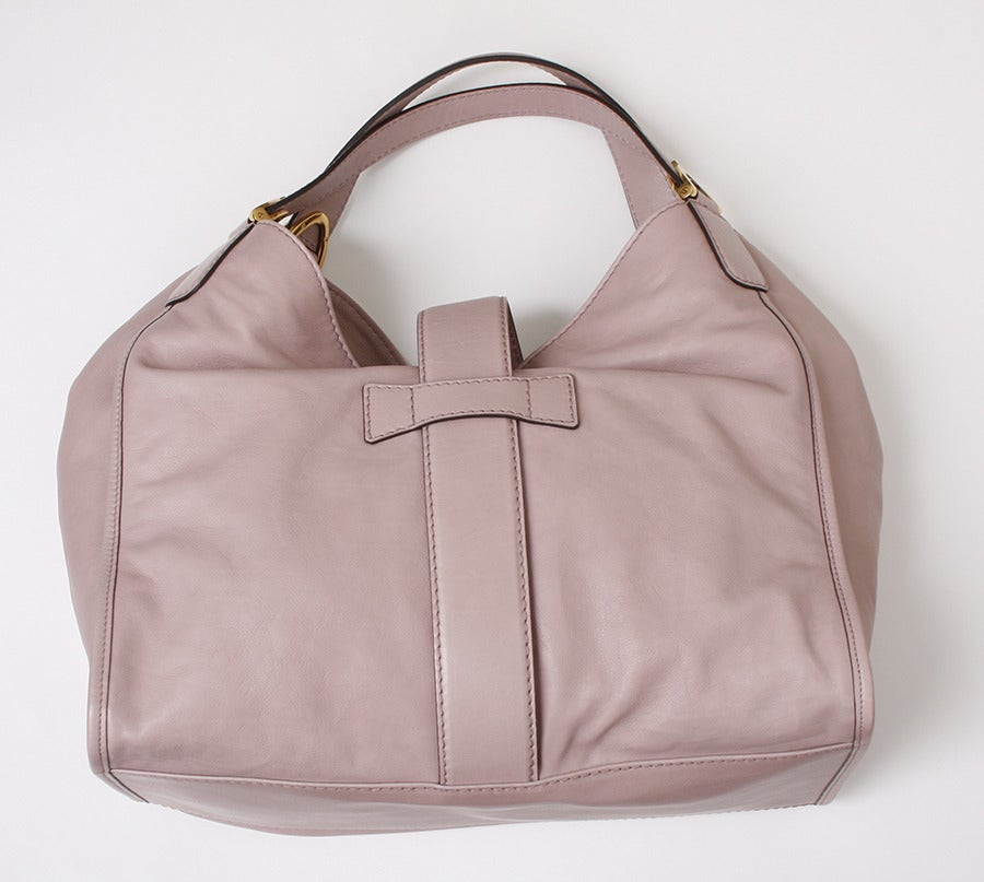 Gucci Soft Stirrup Light Pink Leather Shoulder Bag image 5