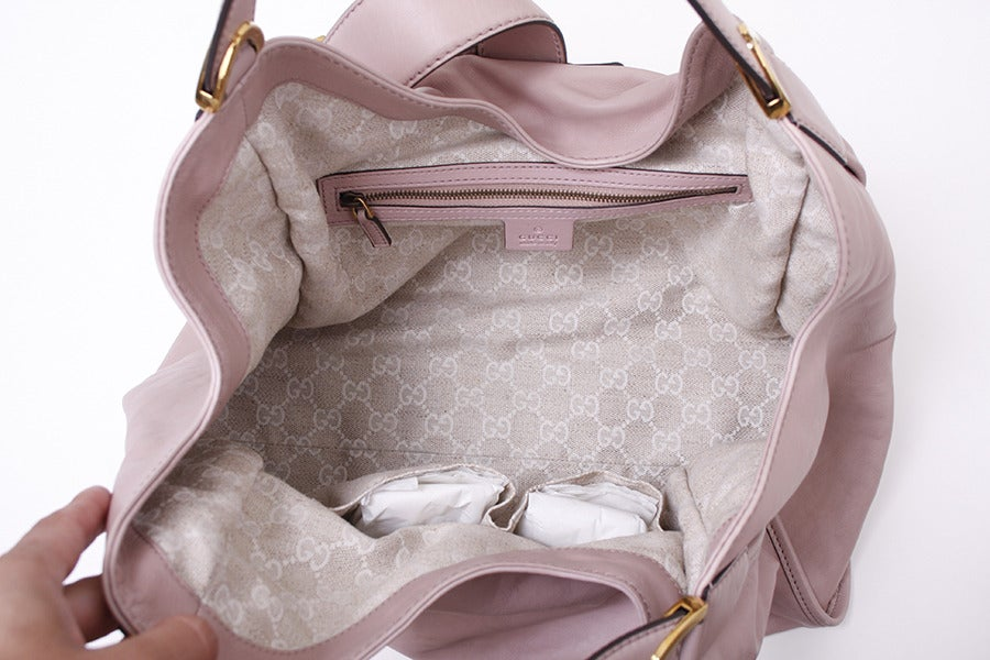 Gucci Soft Stirrup Light Pink Leather Shoulder Bag image 6
