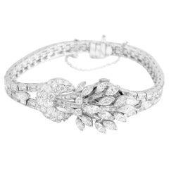 Vintage Omega 18k White Gold Ladies Diamond Watch