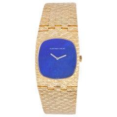 Audemars Piguet Yellow Gold Bracelet Watch with Lapis Dial