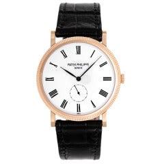 Patek Philippe Rose Gold Calatrava Wristwatch Ref 5119R