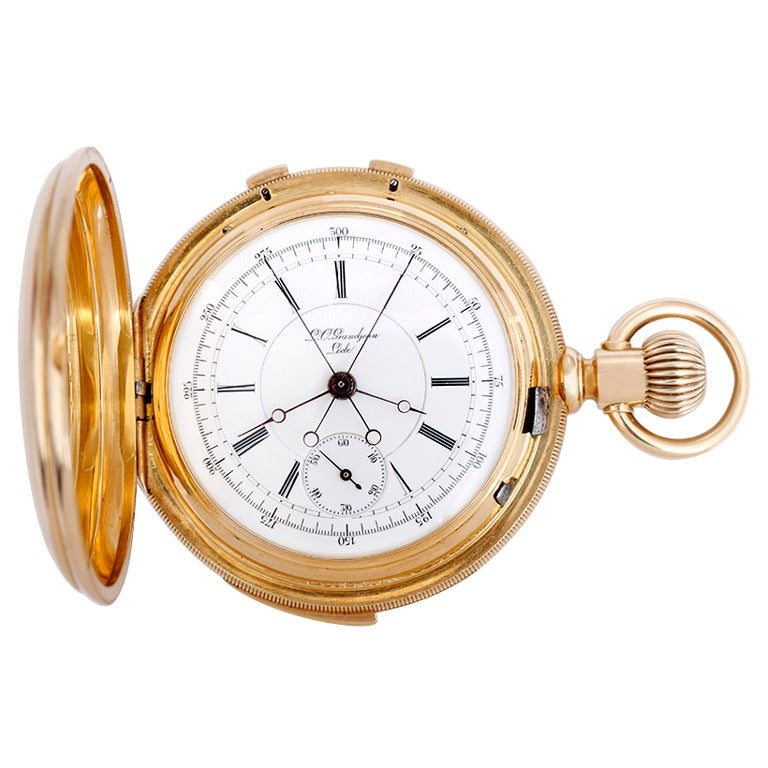 l c grandjean yellow gold minute repeater split second