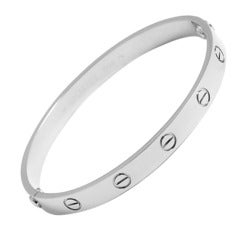 Cartier Love Bracelet White Gold with Box Papers and Screwdriver