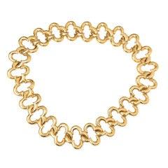 Van Cleef & Arpels Yellow Gold Alhambra Motif Chain Necklace