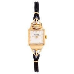 Rolex Lady's Yellow Gold Wristwatch circa 1940s