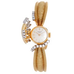 Patek Philippe Lady's Yellow Gold and Diamond Concealed Dial Bracelet Watch Ref 3266/49 circa 1960s