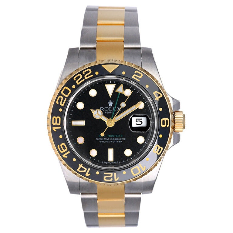 Rolex Stainless Steel and Yellow Gold GMT-Master II Ref 116713