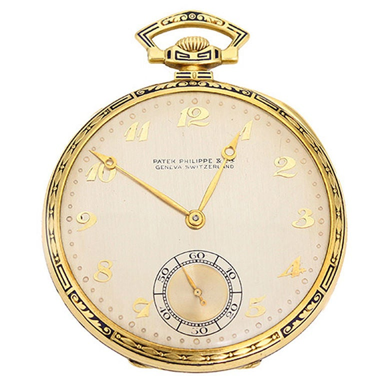 vintage patek philippe yellow gold and enamel s pocket
