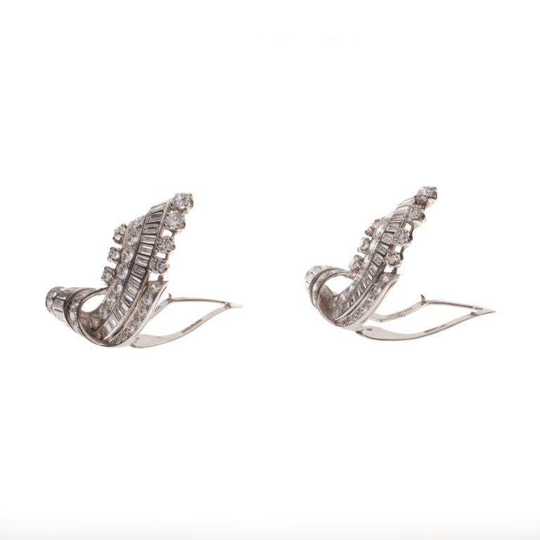 Tiffany & Co. Platinum and Diamond Dress Clips image 2