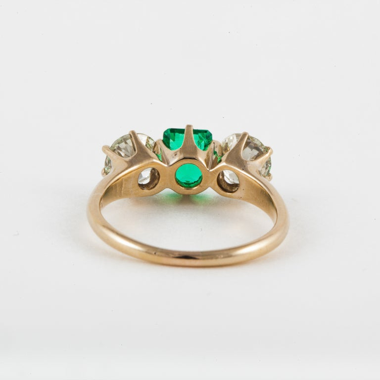 antique emerald and ring image 3