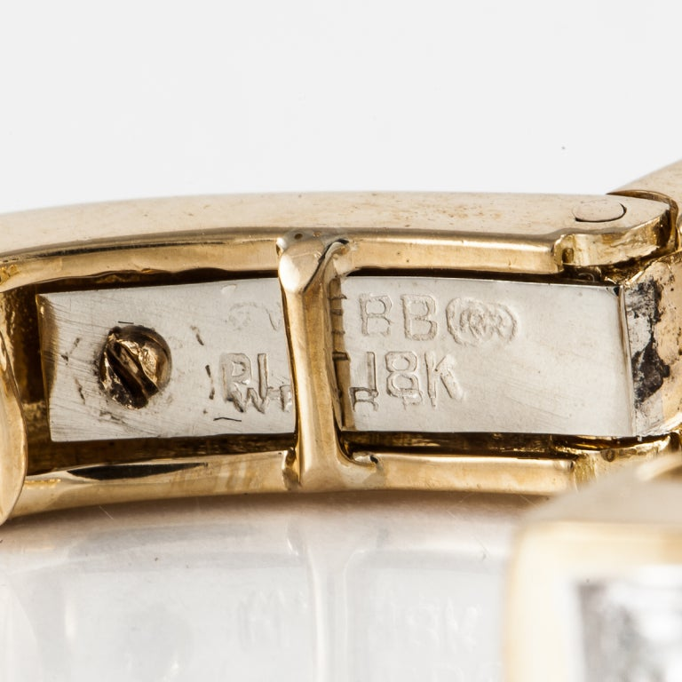 David Webb Diamond Gold Hoop Earrings 4