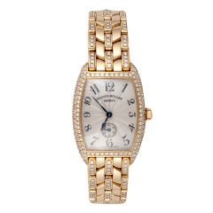 Franck Muller Lady's Yellow Gold and Diamond Wristwatch