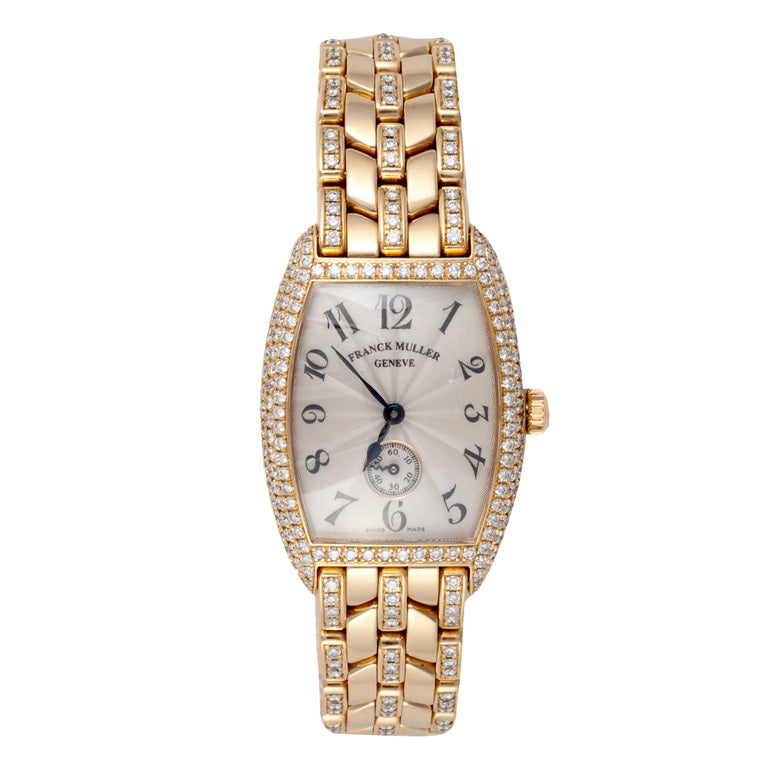 Franck Muller Lady's Yellow Gold and Diamond Wristwatch 1