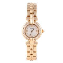 Cartier Ladies' Yellow Gold and Diamond Vendome Bracelet Watch