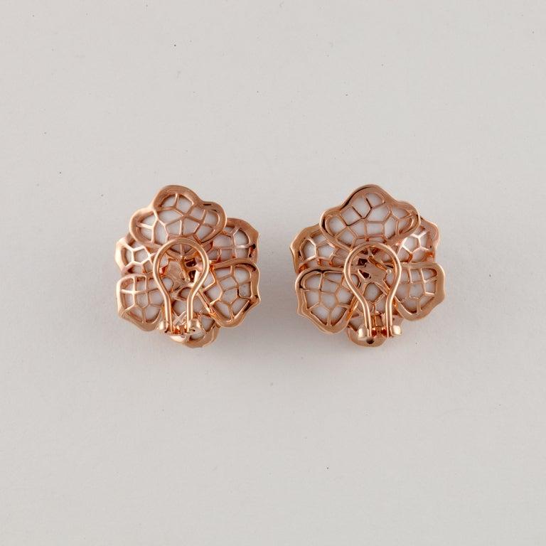 Rose Gold Flower Earrings 2