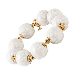 Bulgari Porcelain Gold Bracelet