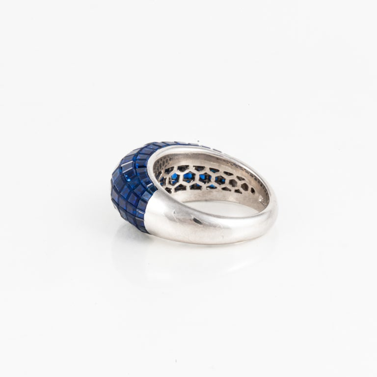 sapphire and platinum ring for sale at 1stdibs