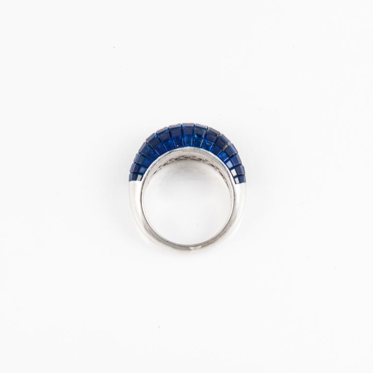 sapphire and platinum ring at 1stdibs