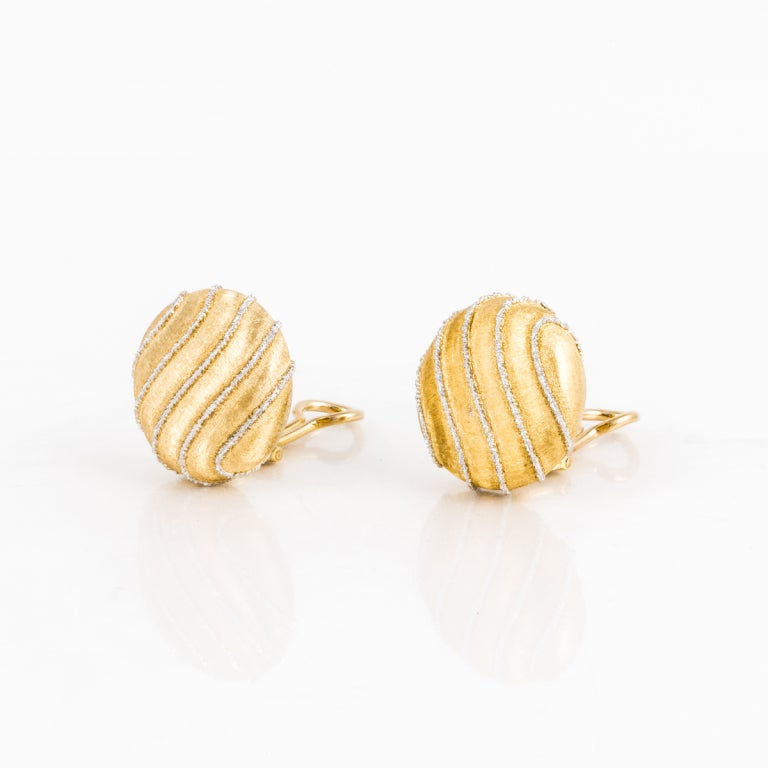 Buccellati Two Color Gold Earrings 2