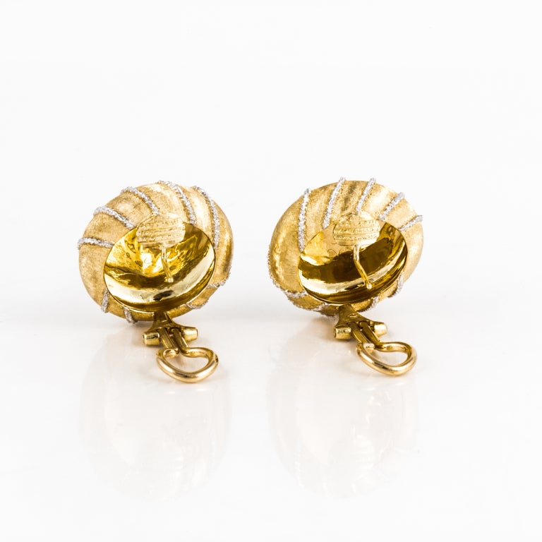 Buccellati Two Color Gold Earrings 3