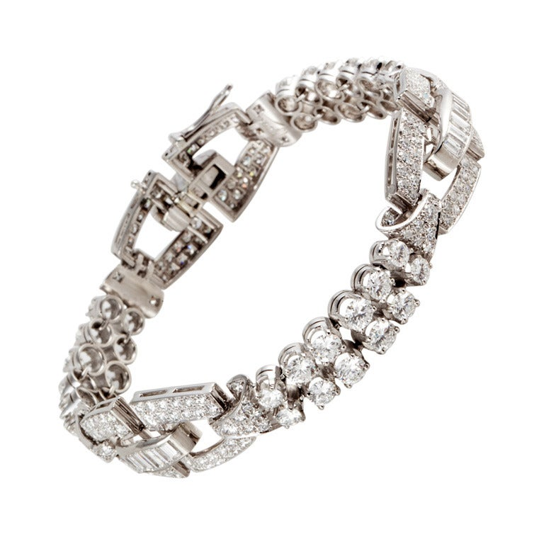Birks Diamond Platinum Bracelet