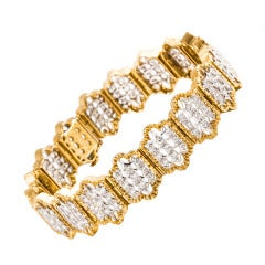 Buccellati Diamond Two Color Gold Bracelet