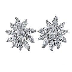 1960s Diamond and Platinum Earrings