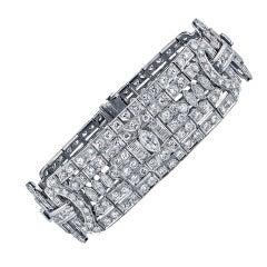1920's Van Cleef & Arpels Diamond  Platinum Bracelet.