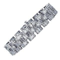Platinum Baguette Diamond Bracelet