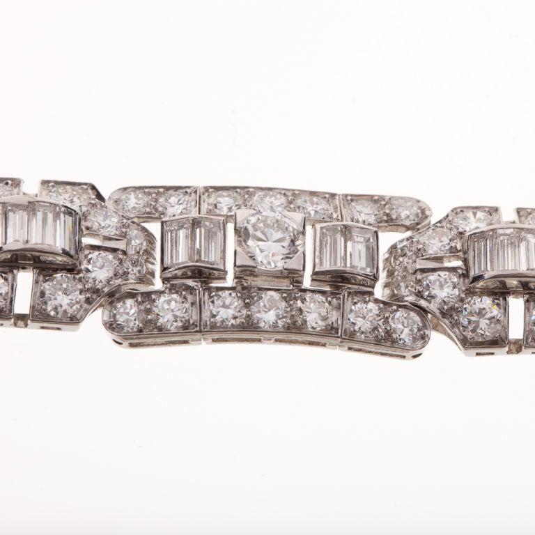Tiffany & Co. Art Deco Diamond Bracelet 2