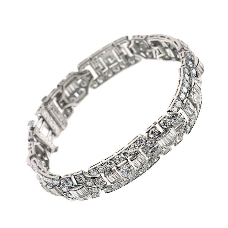 tiffany and co art deco diamond bracelet for sale at 1stdibs. Black Bedroom Furniture Sets. Home Design Ideas