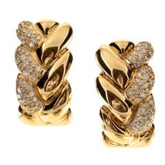 CARTIER Diamond & Yellow Gold Earrings