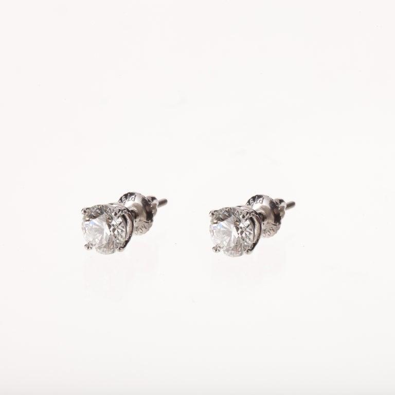 TIFFANY & CO. Diamond Platinum Ear Studs 2