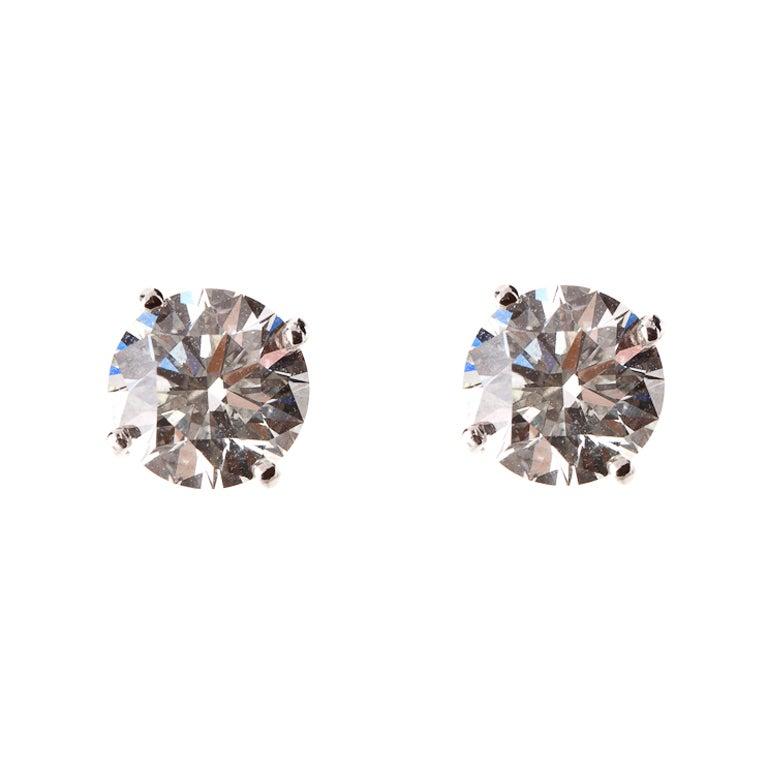 TIFFANY & CO. Diamond Platinum Ear Studs 1