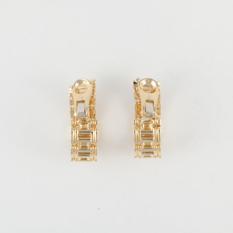 O.J. PERRIN Yellow Gold & Diamond Hoop Earrings 3