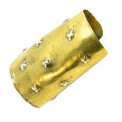 Fabulous Peruvian Yellow Gold Cuff Bracelet