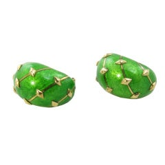 TIFFANY SCHLUMBERGER Classic Gold and Enamel Earrings