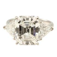 VAN CLEEF & ARPELS Emerald Cut Diamond Ring.