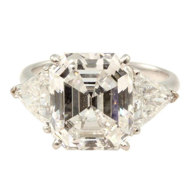 Van Cleef And Arpels Emerald Cut Diamond Ring At 1stdibs