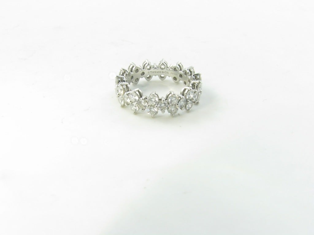 Tiffany And Co Platinum And Diamond Quot Aria Quot Eternity Band